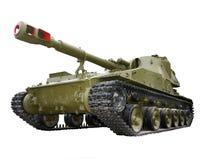 Unidad de artillería automotora soviética del obús Foto de archivo
