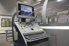 Unidad de control de máquina plegable Fotografía de archivo