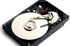 Unidad de disco duro del sata del ordenador dentro de internals Fotografía de archivo libre de regalías