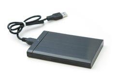 Unidad de disco duro externa aislada Fotografía de archivo