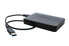 Unidad de disco duro externa para la copia de seguridad foto de archivo libre de regalías