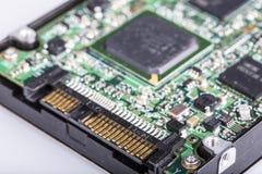 Unidad de disco duro HDD, puerto de SATA Imágenes de archivo libres de regalías