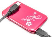 Unidad de disco duro portátil del externo HDD Fotos de archivo libres de regalías