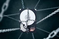 Unidad de discos duros encarcelada Fotos de archivo