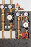 Bomba de la calefacción central fotos de archivo libres de regalías