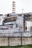 Unidad 4 de la central nuclear de Chernóbil Foto de archivo