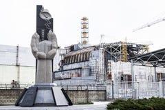 Unidad 4 de la central nuclear de Chernóbil Imágenes de archivo libres de regalías