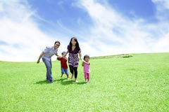 Unidad de la familia feliz Fotos de archivo libres de regalías