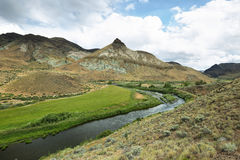 Unidad de la roca de las ovejas, John Day Fossil Beds, Oregon Imagen de archivo