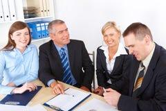Unidad de negocio en la reunión fotografía de archivo libre de regalías