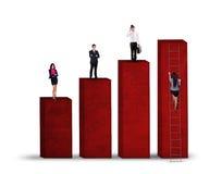 Unidad de negocio que se coloca en el gráfico 1 foto de archivo libre de regalías