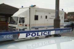 Unidad del comando de incidente de la policía, incidente importante imagenes de archivo