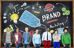 Unidad diversa Team Marketing Brand Concept de la gente Fotografía de archivo