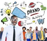 Unidad diversa Team Marketing Brand Concept de la gente imágenes de archivo libres de regalías