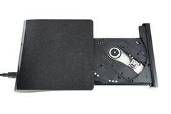 Unidad externa portátil de Cd/Dvd Imagen de archivo libre de regalías