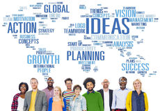 Unidad global Team Creativity Ideas Concept de la gente Imágenes de archivo libres de regalías