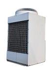 Unidad industrial de la condición del aire aislada en blanco. Foto de archivo