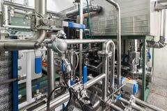 Unidad industrial del compresor de la refrigeración fotografía de archivo libre de regalías