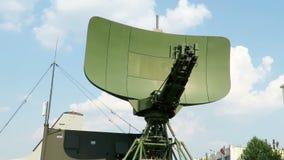 Unidad móvil del radar del ejército almacen de video