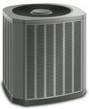Unidad moderna del condensador del acondicionador de aire Fotos de archivo