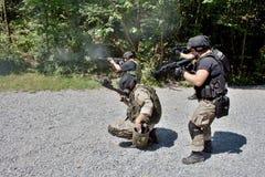 Unidad policial especial en el entrenamiento Fotografía de archivo
