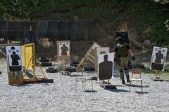 Unidad policial especial en el entrenamiento Imagen de archivo