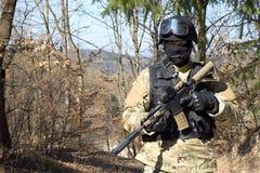 Unidad policial especial, policía enmascarada Fotos de archivo