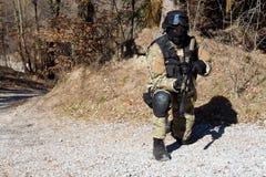 Unidad policial especial, policía enmascarada Fotografía de archivo