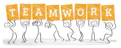 Unidad - trabajo en equipo libre illustration