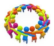 Unidad y cooperación de las personas Imágenes de archivo libres de regalías