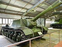 Unidade automotora SU-152 do anti tanque soviético Fotografia de Stock