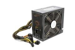 unidade da fonte de alimentação 850W com cabo e interruptor mim O, cor preta FO fotografia de stock royalty free