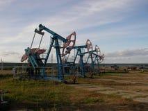 Unidade de bombeamento do óleo Fotografia de Stock Royalty Free