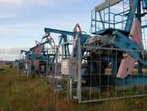 Unidade de bombeamento do óleo Foto de Stock Royalty Free