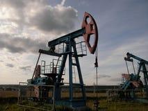 Unidade de bombeamento do óleo Fotografia de Stock