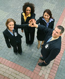 Unidade de executivos da diversidade fotografia de stock