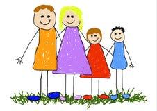 Unidade de família ilustração royalty free