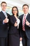 Unidade de negócio de empresários no escritório imagens de stock royalty free