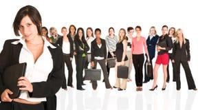 Unidade de negócio de mulher somente imagem de stock