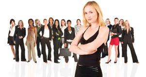 Unidade de negócio de mulher somente fotografia de stock royalty free