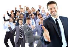 Unidade de negócio feliz Fotos de Stock