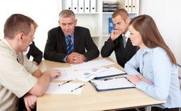 Unidade de negócio na reunião Fotos de Stock Royalty Free
