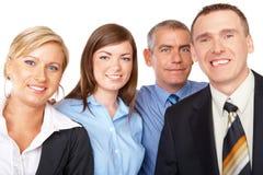 Unidade de negócio que está na fileira Fotografia de Stock Royalty Free