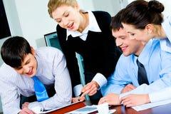 Unidade de negócio no trabalho Imagem de Stock Royalty Free