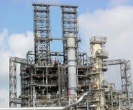 Unidade de transformação da refinaria fotografia de stock