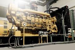Unidade diesel do gerador imagem de stock