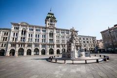 Unidade do quadrado Trieste de Itália, Itália fotografia de stock