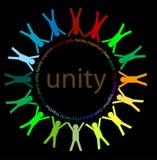 Unidade e paz ilustração royalty free