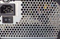 Unidade empoeirada do sistema informático fotografia de stock royalty free