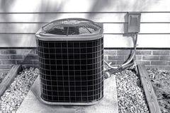 Unidade exterior do cambista do ventilador de refrigeração do condicionador de ar imagem de stock royalty free